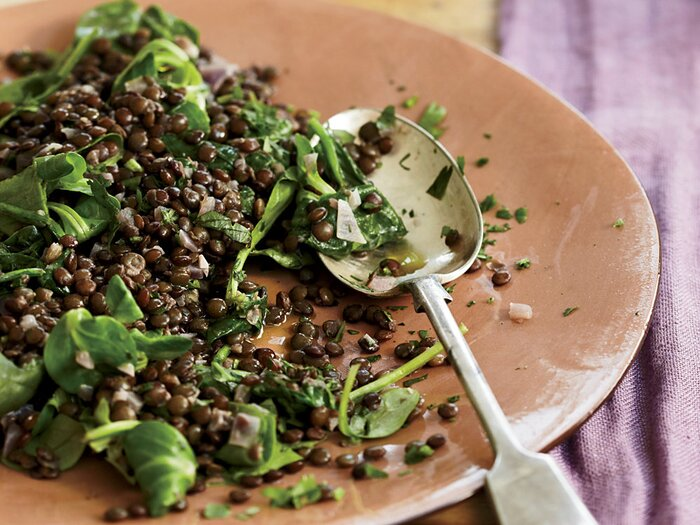 Lentils with red wine and herbs recipe sophie dahl food wine 201003 r red wine herbs lentilsg forumfinder Image collections
