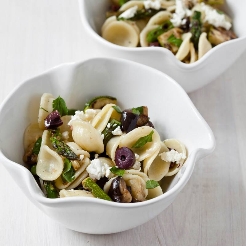 pasta salad with grilled vegetables parsley and feta recipe