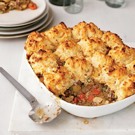 Beef And Vegetable Potpie With Cheddar Biscuits Recipe Grace