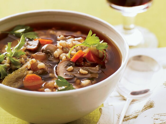 Mushroom barley soup recipe grace parisi food wine 201011 r mushroom barley soupg forumfinder Image collections