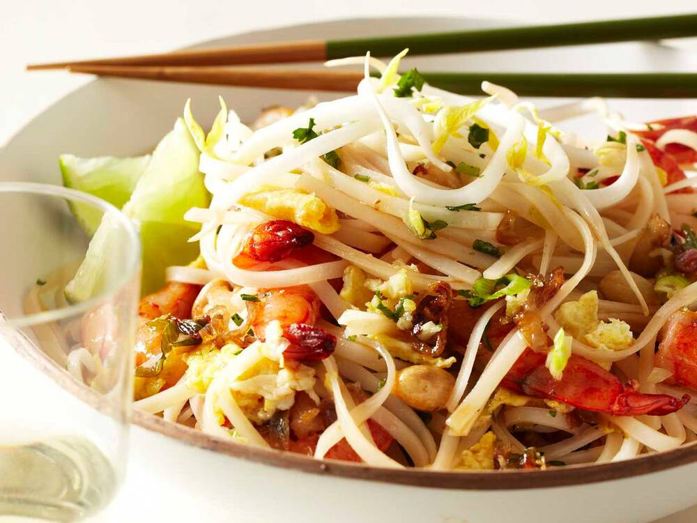 Quick shrimp pad thai recipe grace parisi food wine forumfinder Image collections