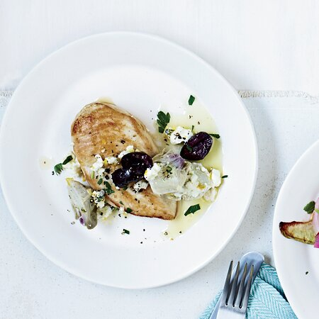 Chicken Breasts With Artichoke Olive Sauce Recipe Marcie Turney