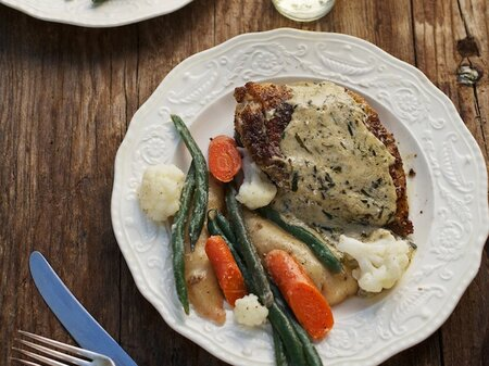 Pan Roasted Chicken With Tarragon Crme Frache Recipe Jane Sigal