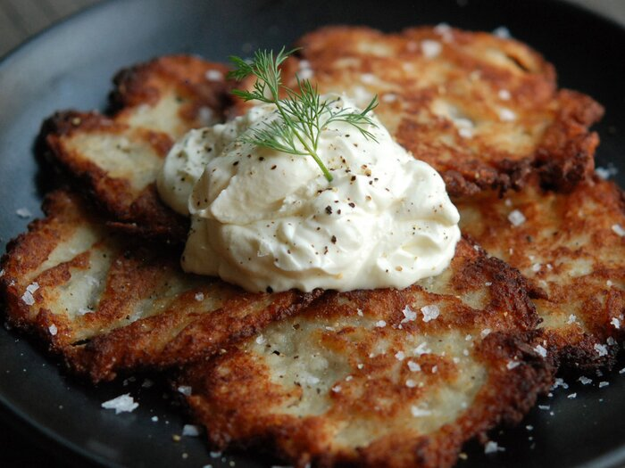 Killer potato latkes recipe andrew zimmern food wine images sys 201111 r zimmern latkesg forumfinder Images