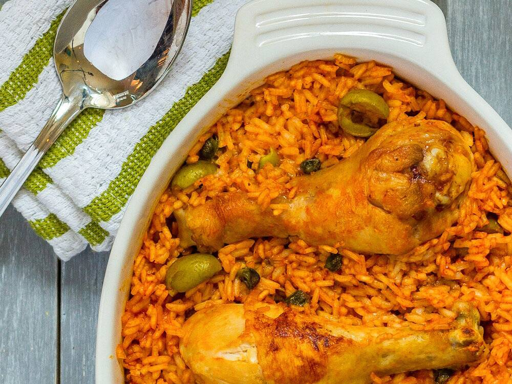 Arroz con pollo puerto rican rice with chicken recipe emily original 201402 r arroz con pollo puerto rican forumfinder Images