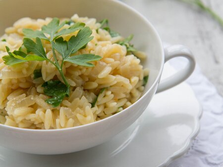 Orzo Pilaf With Parsley Recipe Melissa Rubel Jacobson Food Wine