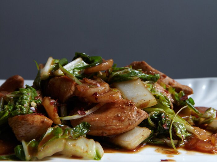 Stir fried chicken with chinese cabbage recipe quick from scratch stir fried chicken with chinese cabbage recipe quick from scratch chicken food wine forumfinder Images