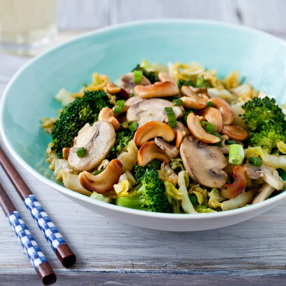 stir fried vegetables with toasted cashews recipe quick from