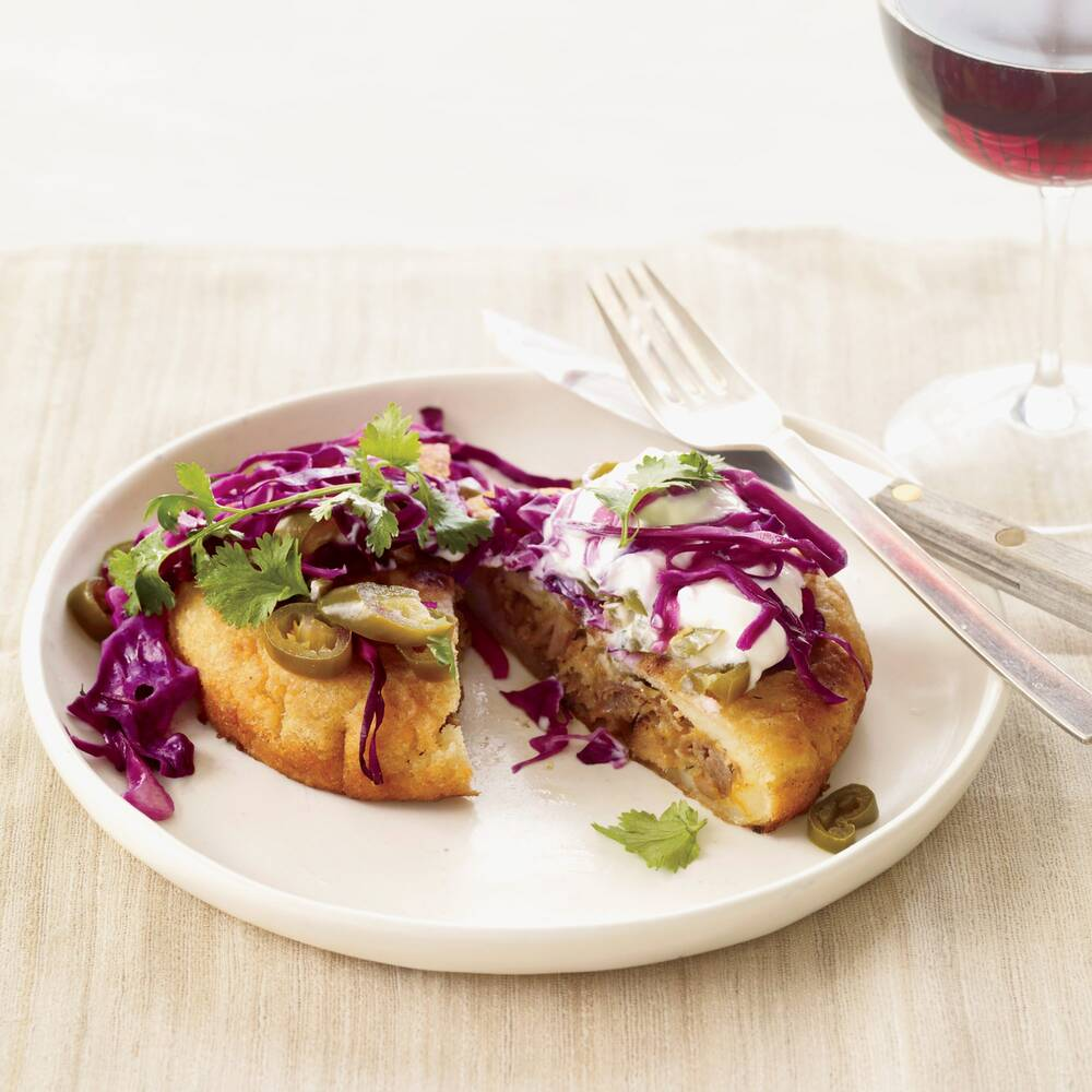 pork and cheese arepas with tangy cabbage slaw recipe grace parisi
