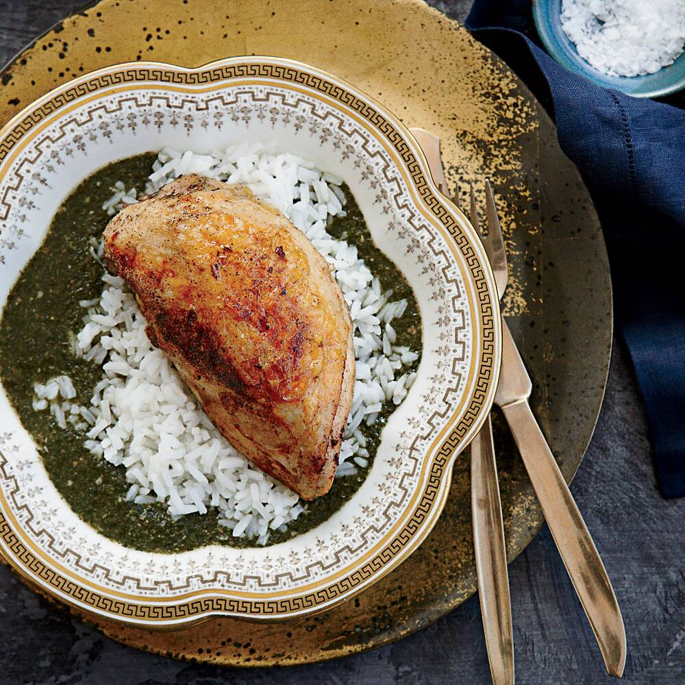 Molokhia with spiced chicken recipe food wine forumfinder Image collections