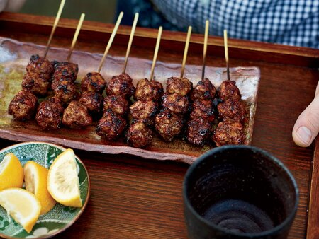 Chicken Meatball Yakitori Recipe Food Wine