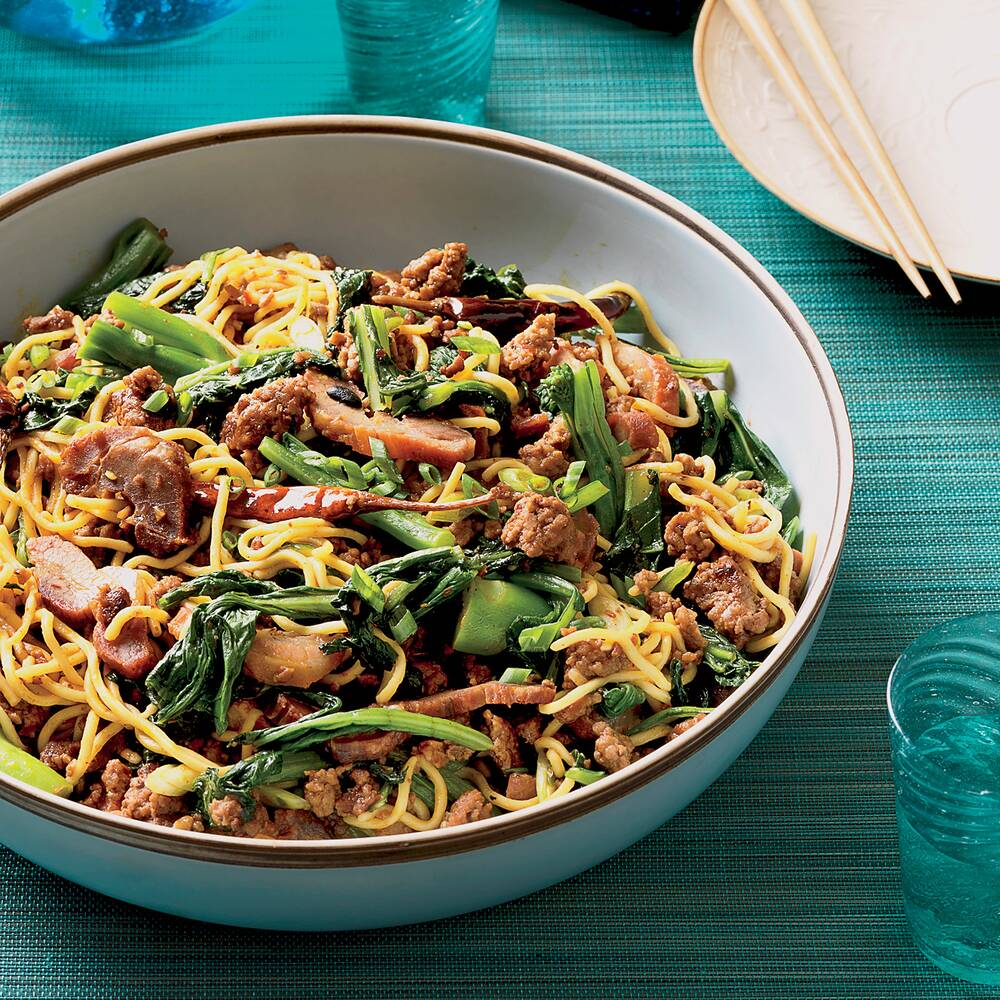 Asian Noodles with Roast Pork Recipe - Bryant Ng | Food & Wine on