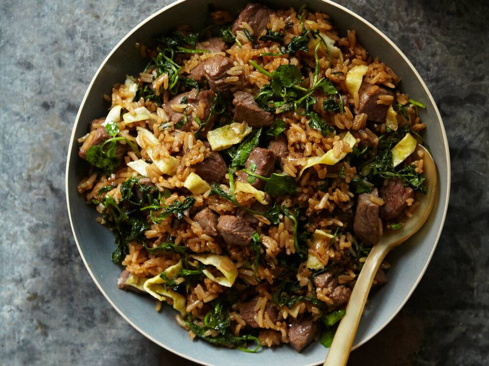 Beef fried rice recipe quick from scratch one dish meals food wine original beef friedrice qfs rg ccuart Choice Image