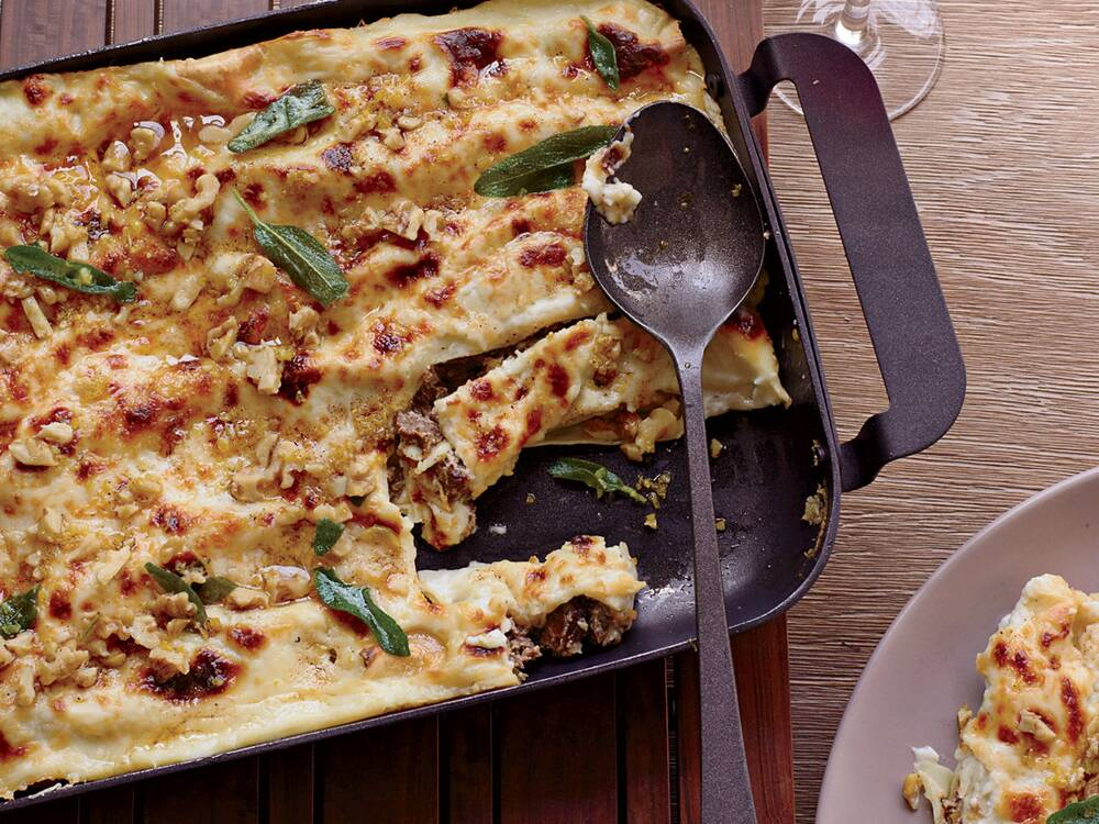 cannelloni with walnuts and fried sage recipe matthew accarrino