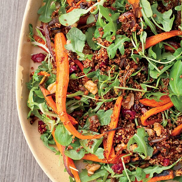 Roasted carrot and red quinoa salad recipe food wine roasted carrot and red quinoa salad forumfinder Choice Image