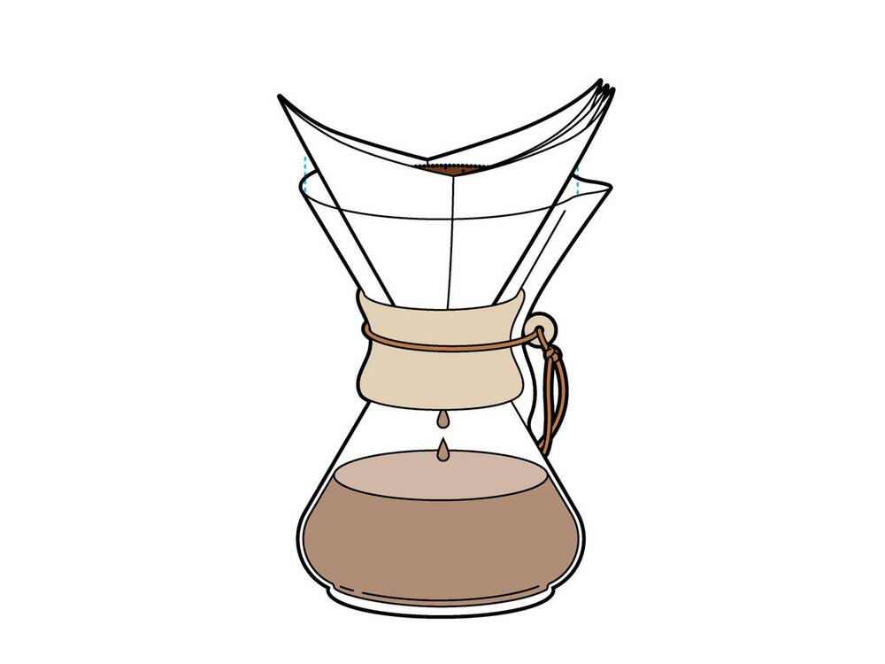 Chemex Brewed Coffee Using A Paper Filter Recipe Food Wine