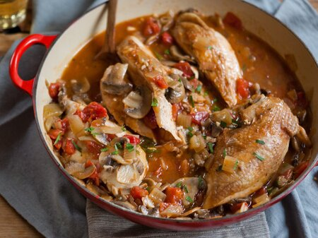 Chicken Chasseur Recipe Quick From Scratch Chicken Food Wine