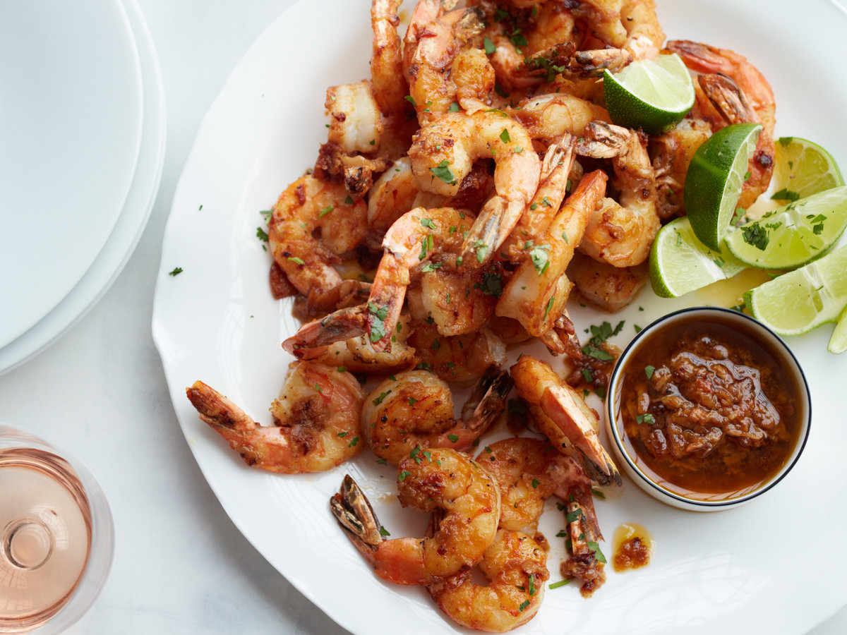 Mexico City Shrimp With Chipotle Mojo Recipe Rick Bayless Food
