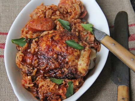 Chicken And Sausage Jambalaya Recipe Ian Knauer Food Wine