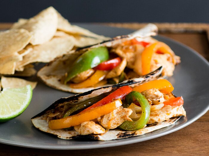 Chicken fajitas with bell peppers recipe todd porter and diane cu chicken fajitas with bell peppers recipe todd porter and diane cu food wine forumfinder Image collections
