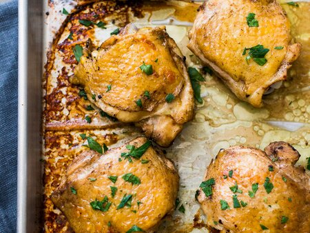 Easy Baked Chicken Thighs Recipe Todd Porter And Diane Cu Food