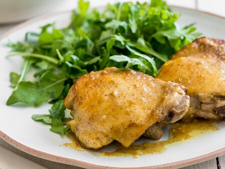 Honey Mustard Baked Chicken Thighs Recipe Todd Porter And Diane Cu