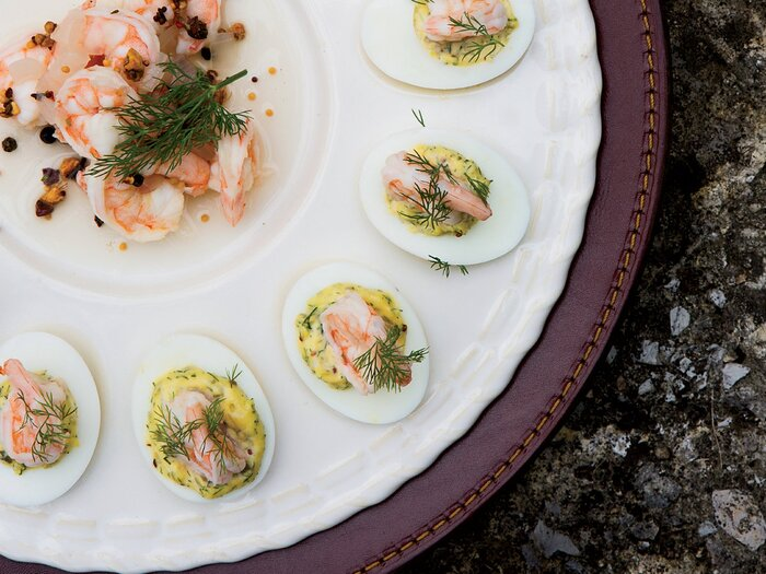 Deviled eggs with pickled shrimp recipe bobby flay food wine deviled eggs with pickled shrimp forumfinder Gallery