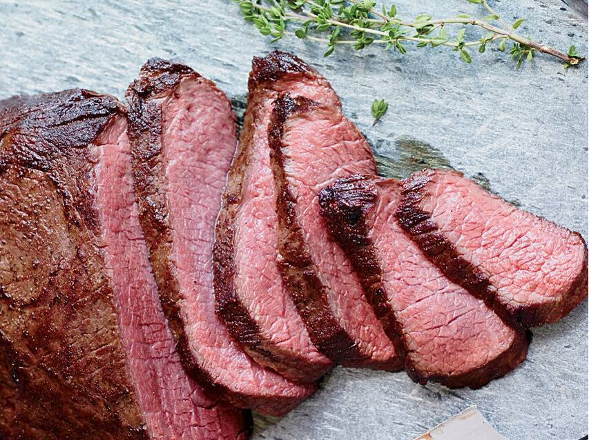 seared sous vide style tri tip recipe food wine