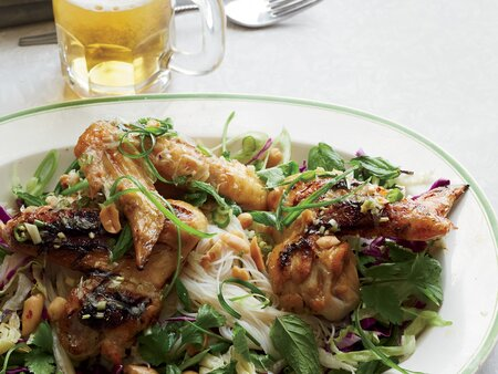 Spicy Fish Sauce Chicken Wings With Vermicelli Salad Recipe Danny
