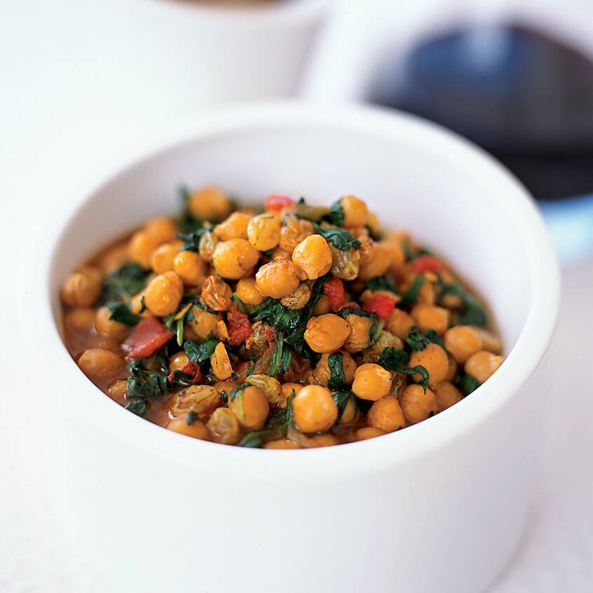 chickpea and spinach stew recipe janet mendel food wine