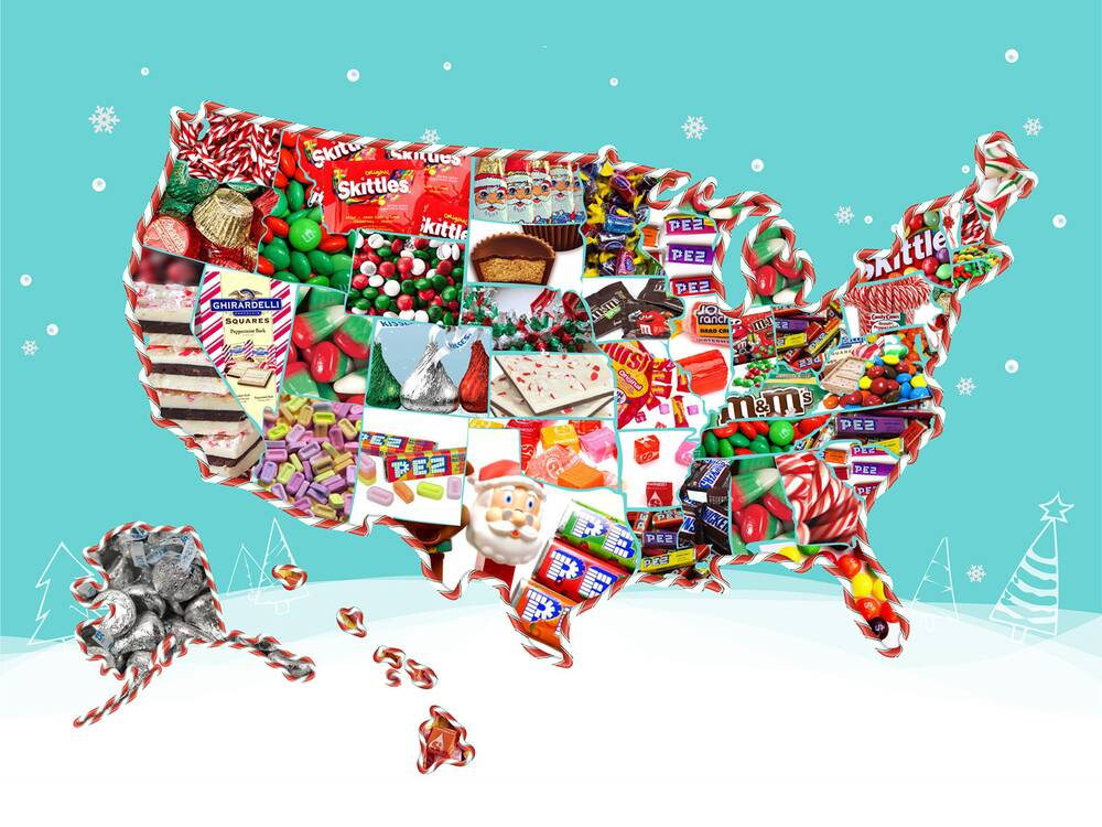 christmas candy map - Christmas Candy