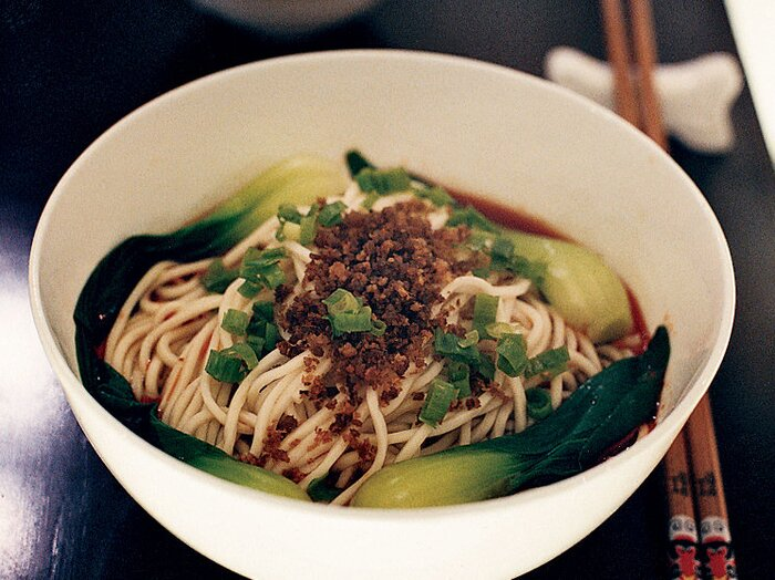 Dan dan noodles with pickled mustard greens recipe susanna foo dan dan noodles with pickled mustard greens forumfinder Image collections