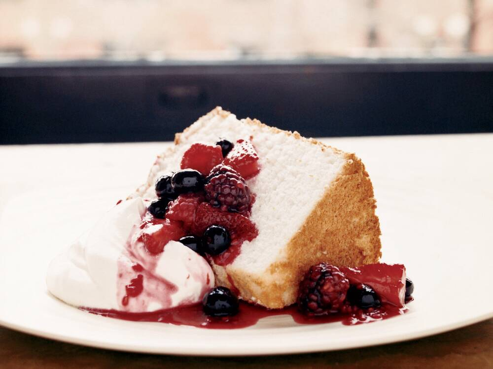 Angel food cake with three berry compote recipe kimbal musk hugo fw200608angelcakeg forumfinder Image collections