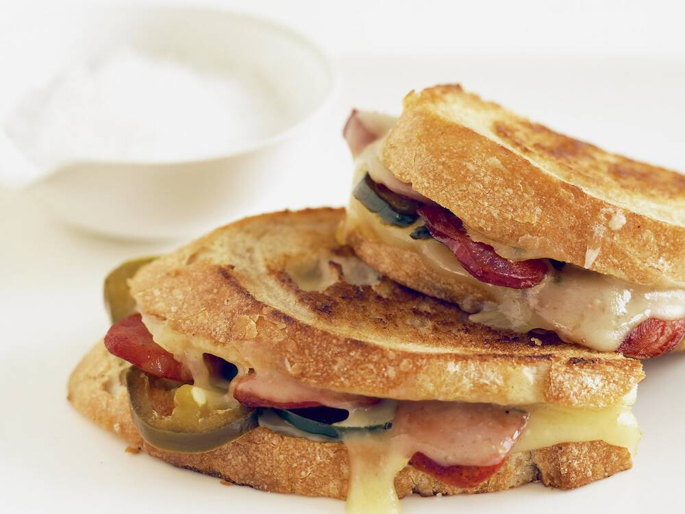 grilled cheese and chorizo sandwiches recipe annie miller food