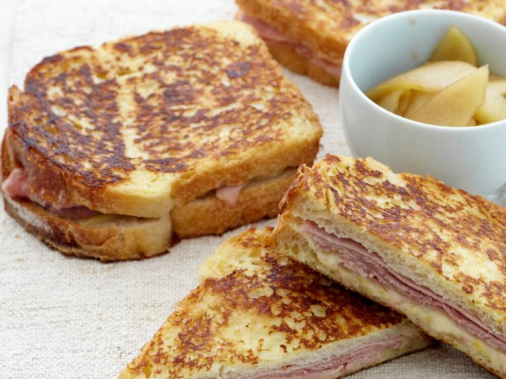 ham and gruyère french toast sandwiches recipe jesse cool food