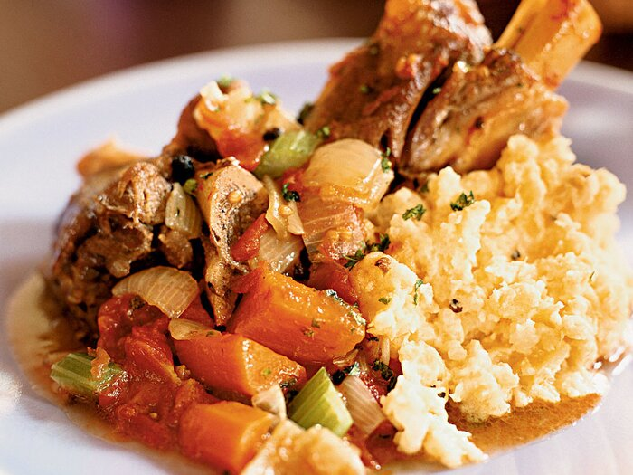 Lamb shanks osso buco style recipe joshua wesson food wine lamb shanks osso buco style forumfinder Choice Image