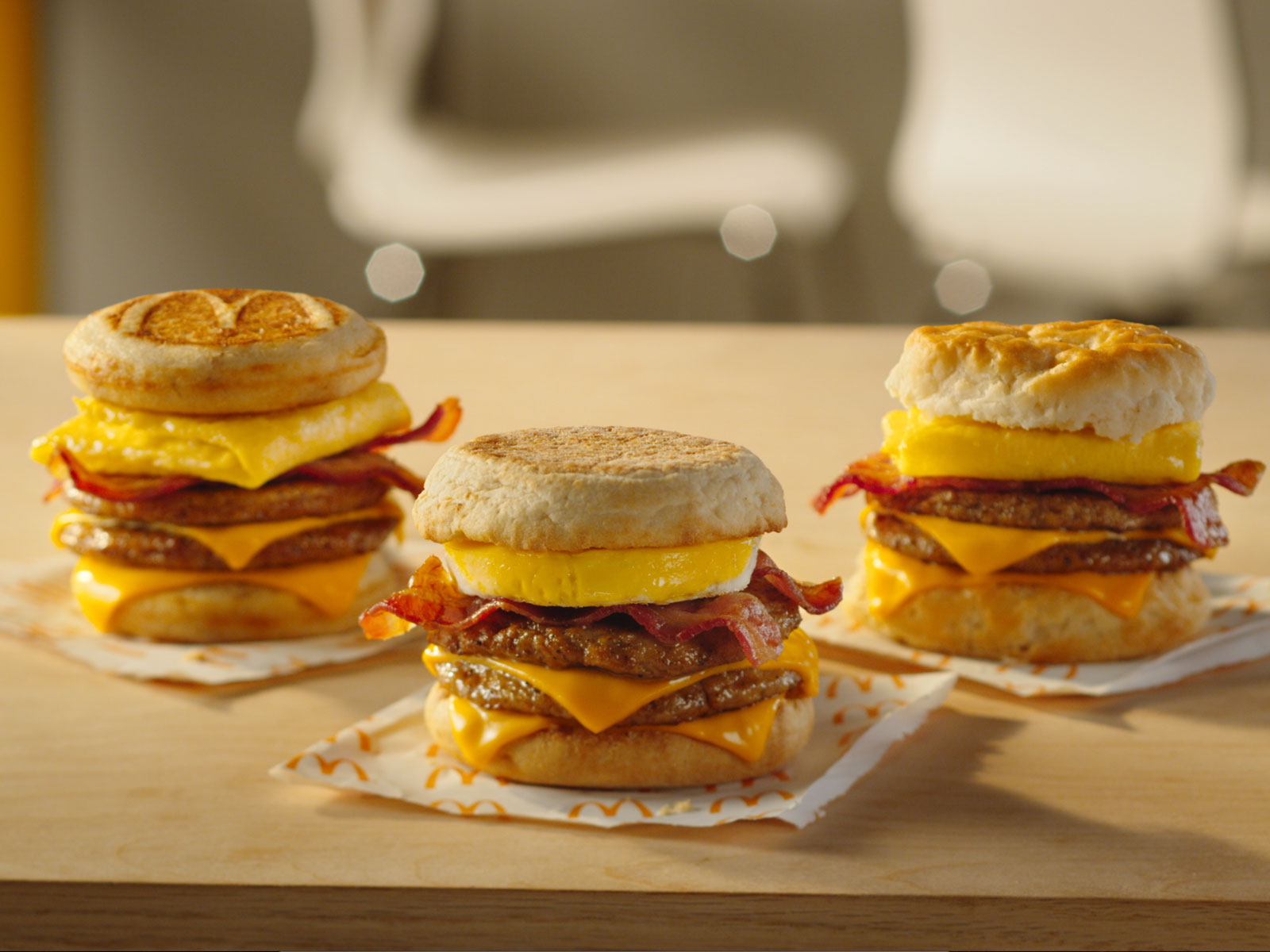 McDonald's Triple Breakfast Stack