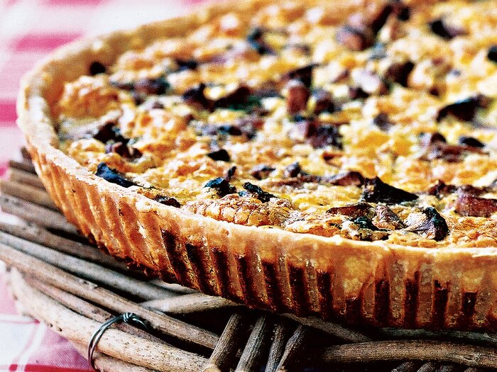 Mushroom and ham quiche recipe chantal leroux food wine mushroom and ham quiche 200210 162 mushr q forumfinder Gallery