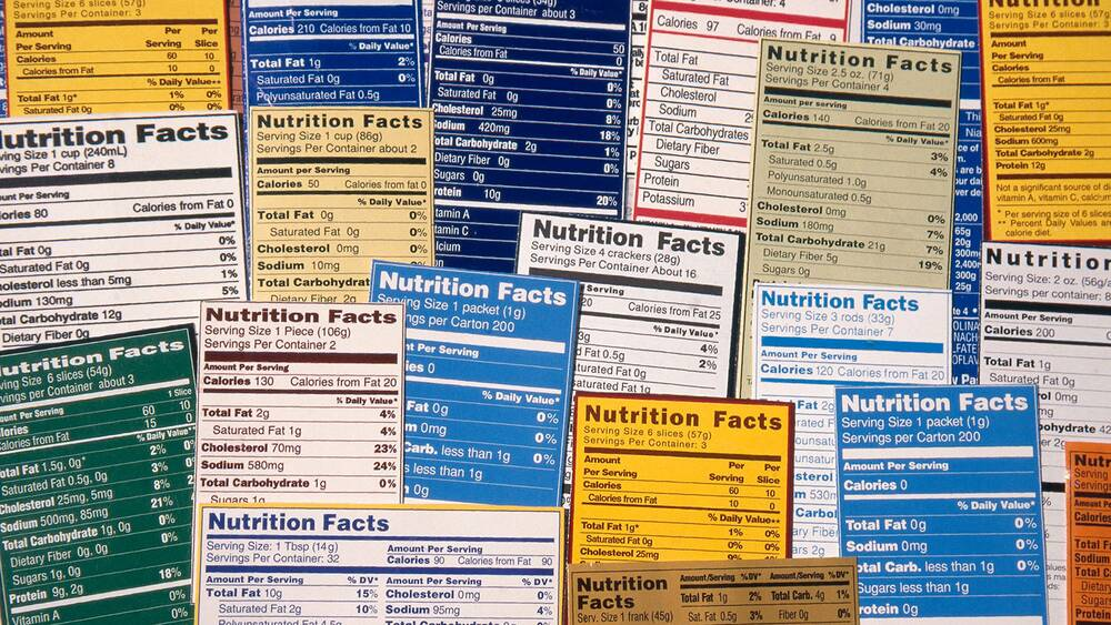 nutrition facts will get a makeover next year food wine