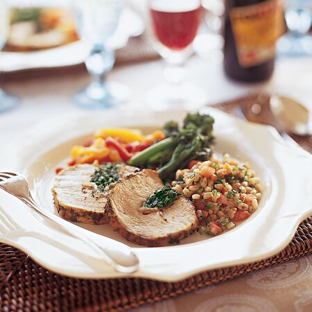 Roasted Pork Loin Stuffed With Spinach And Prosciutto Recipe Giada