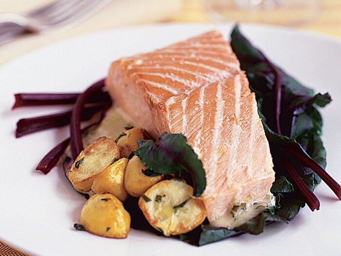 Salt baked salmon with prosecco butter sauce recipe paul bertolli salt baked salmon with prosecco butter sauce forumfinder Choice Image