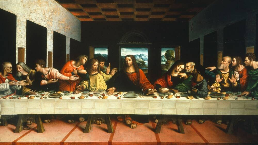 what did jesus and the apostles eat at the last supper food wine