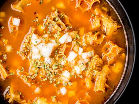 Mexican Tripe Soup Recipe Food Wine Recipe
