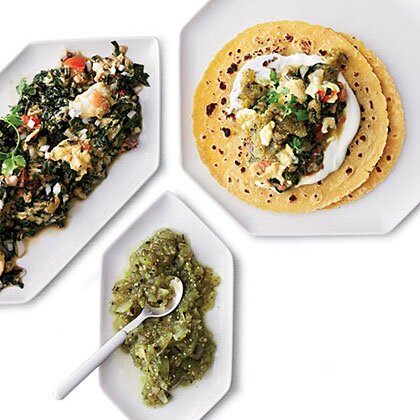Breakfast and brunch recipes from food wine myrecipes scrambled egg and swiss chard tacos forumfinder Gallery