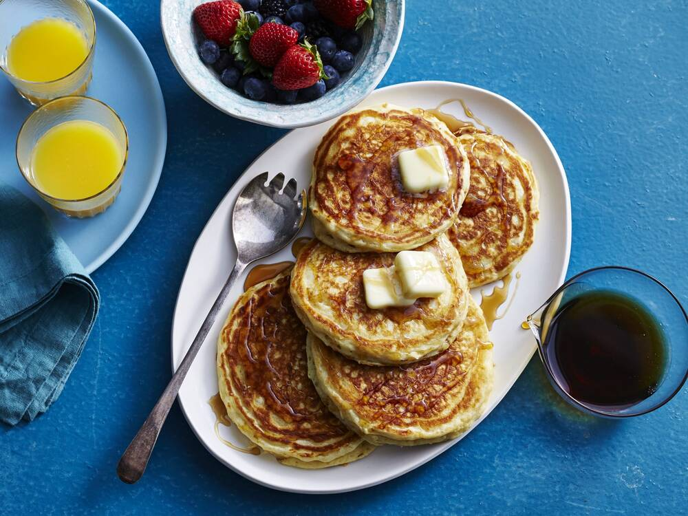 The keys to making light fluffy pancakes at home myrecipes pphotographer victor protasio prop stylist mindi shapiro food stylist anna hampton ccuart Images