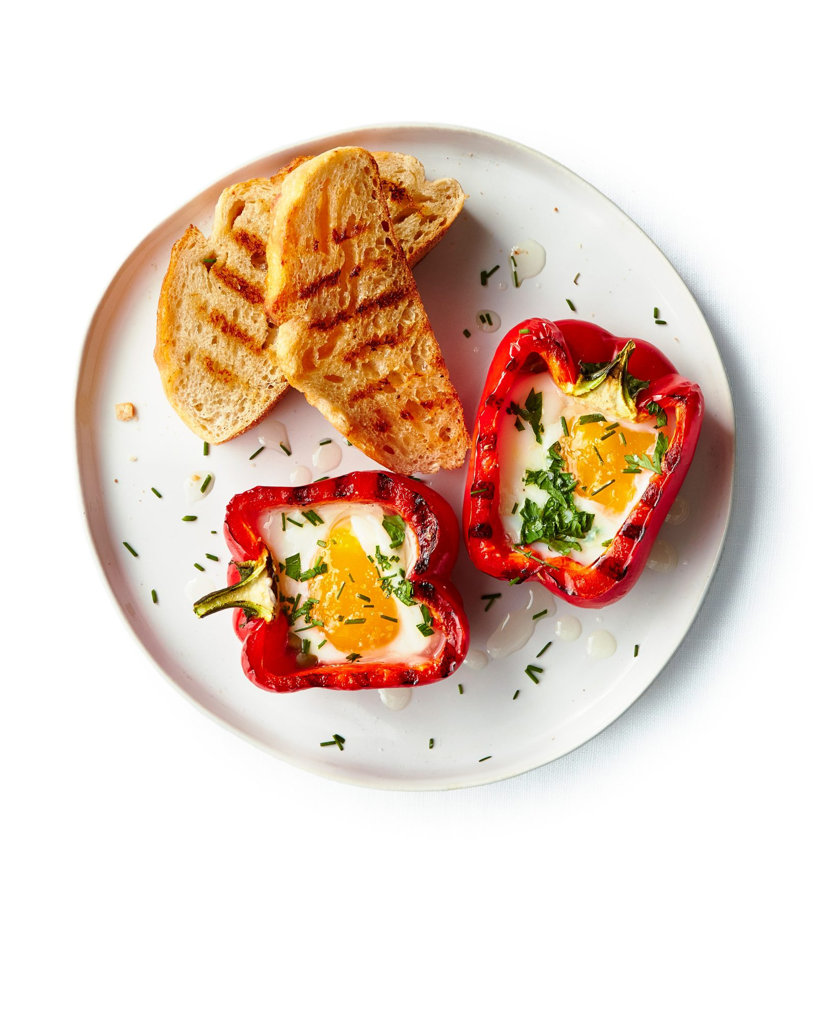 Grilled Peppers and Eggs