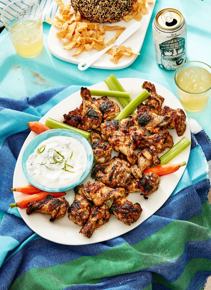 Jamaican jerk chicken wings with cilantro lime ranch recipe myrecipes jamaican jerk chicken wings with cilantro lime ranch forumfinder Gallery