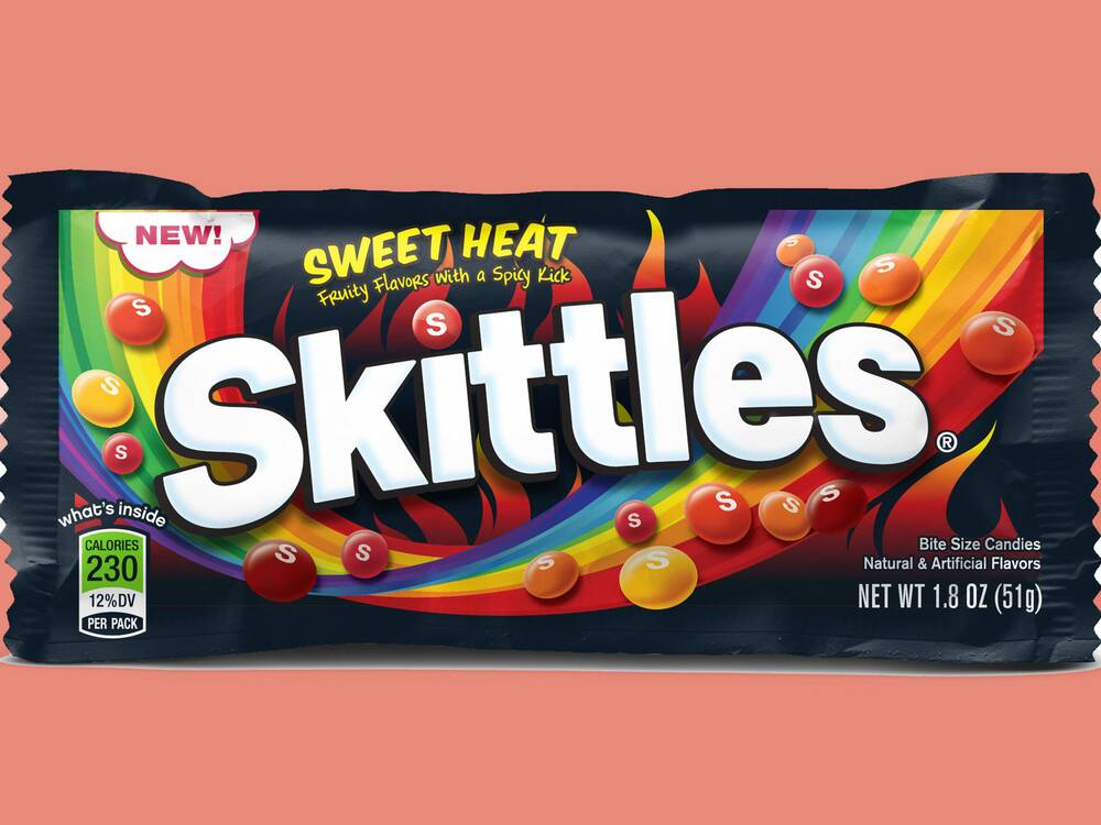 spicy skittles have been unleashed on the general public extra crispy