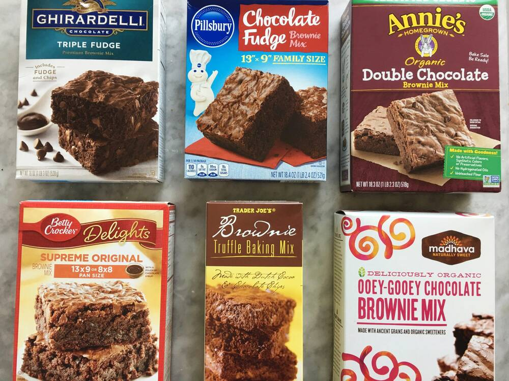we blind tasted 6 boxed brownie mixes and this was the unanimous