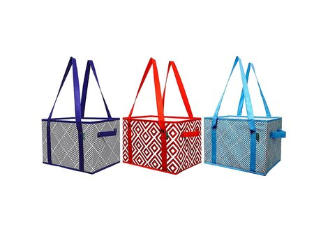 Earthwise's Deluxe Collapsible Reusable Shopping Box Grocery Bag Set